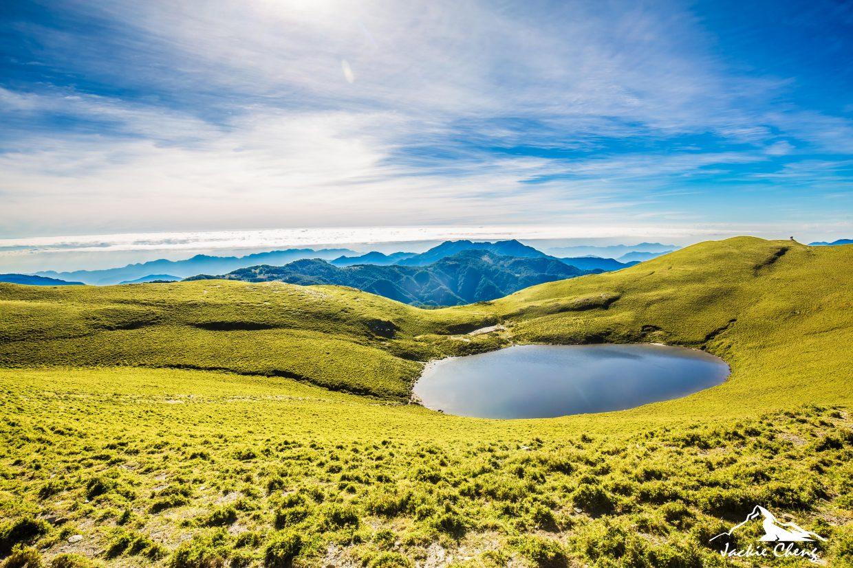 早上九點前到達嘉明湖才有機會拍到最美的景