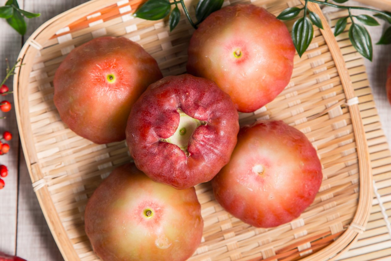 「果頂裂開」可是果實成熟的表徵。