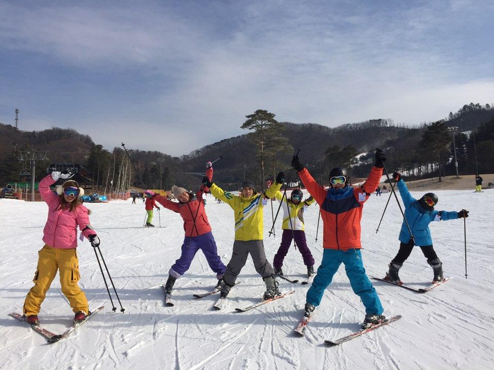 韓國橡樹谷雙板滑雪(二)