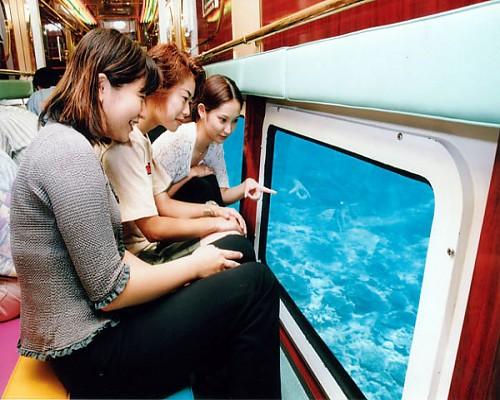 搭乘潛水艇看熱帶魚
