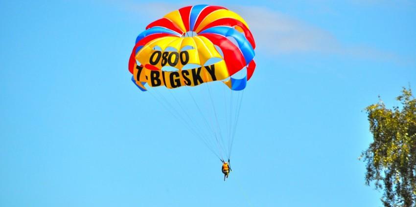 陶波湖拖曳傘