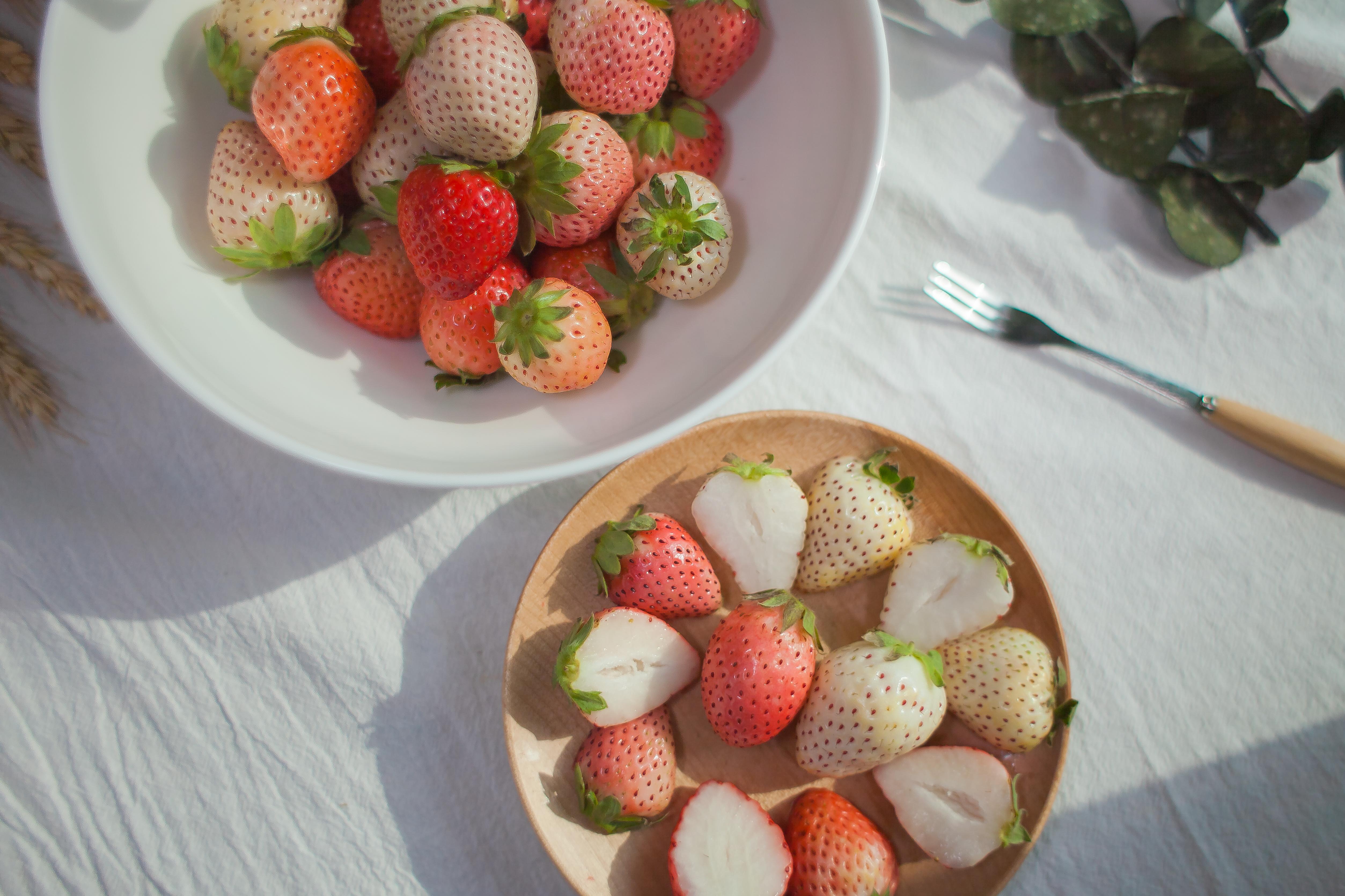 ▲白草莓就是浪漫~