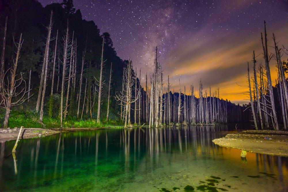 天氣好的時候,晚上的水漾森林可以看到滿天星空
