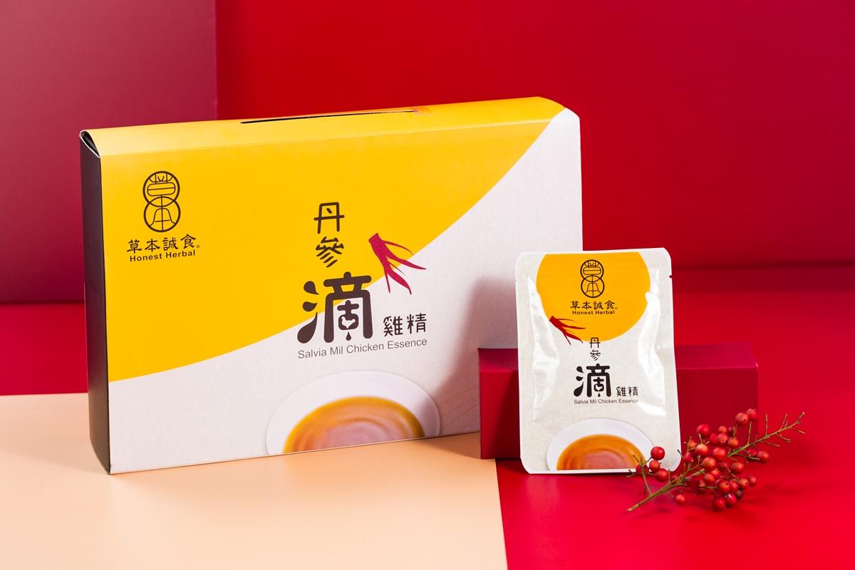【圖四】《草本誠食》丹參滴雞精禮盒