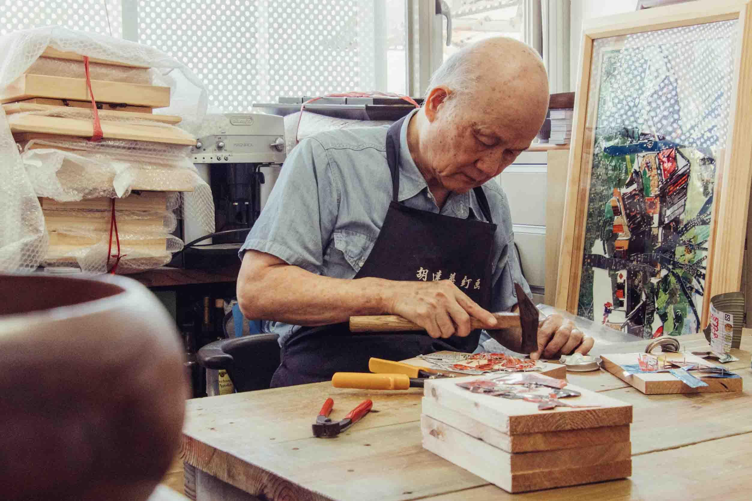 OwlStay團隊邀請藝術家胡達華展示珍藏釘畫作品及開設工作坊
