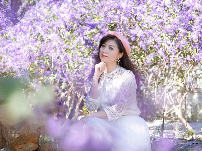 南投秘境│紫色隧道隱藏在埔里 夢幻浪漫的紫色花廊盛開中