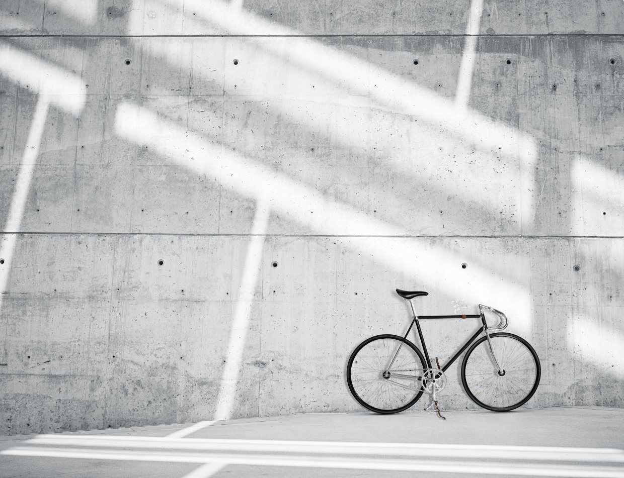 Horizontal,Photo,Blank,Grungy,Smooth,Bare,Concrete,Wall,In,Modern
