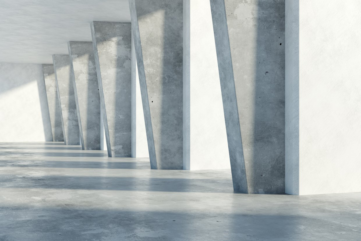 Grunge,Concrete,Room,Interior,With,Daylight ,3d,Rendering