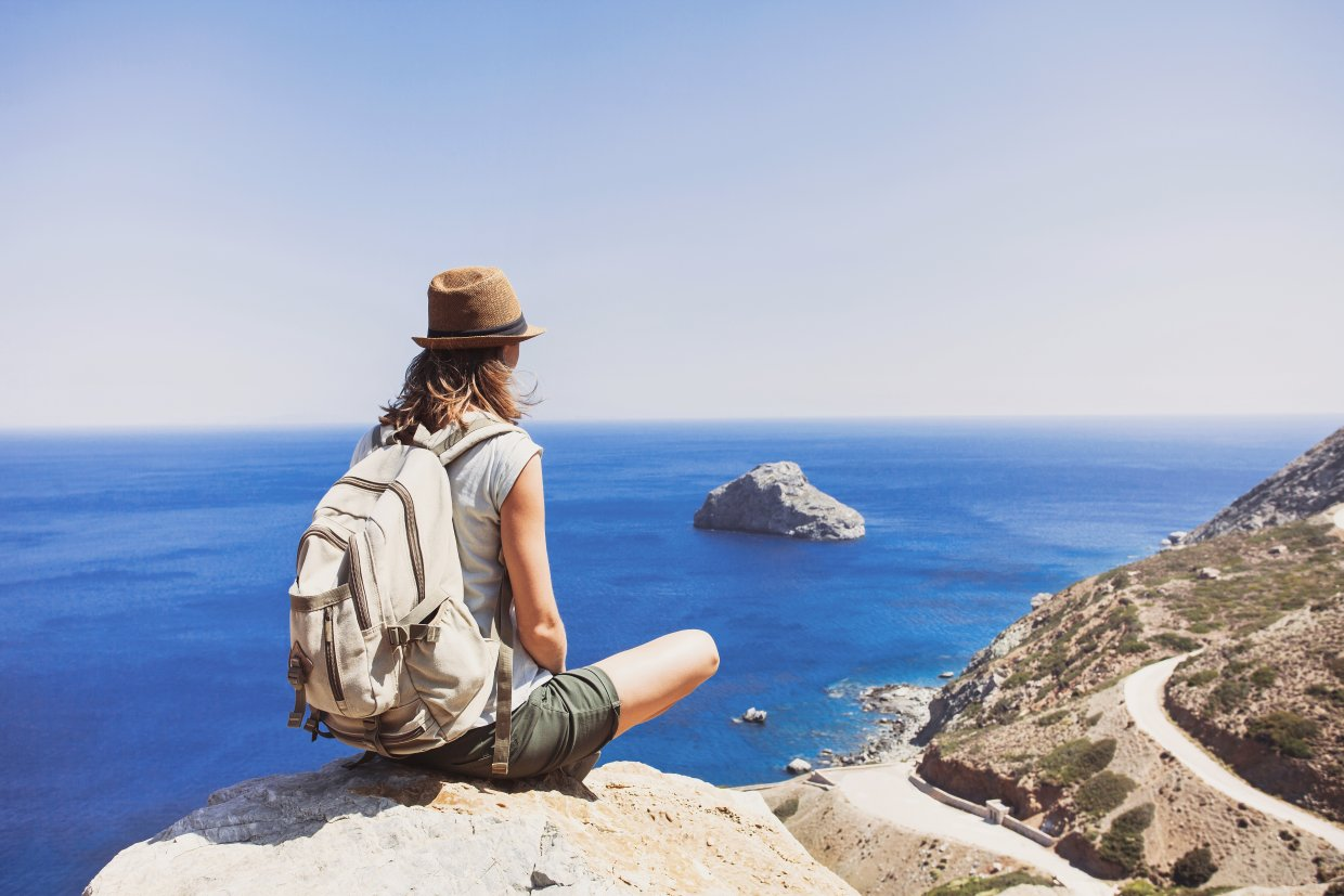 Female,Traveler,Looking,At,The,Sea,,Travel,And,Active,Lifestyle