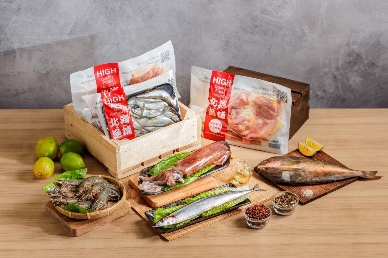 《北海漁鋪》獨家海陸烤肉箱 (3~4人份),奧丁丁獨家優惠價:$1,300 / 箱。